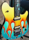 50's car theme Custom Wolfgang arch top built for the 2003 NAMM show