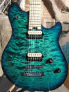 Custom blue burst Peavey EVH Wolfgang quilt top Guitar