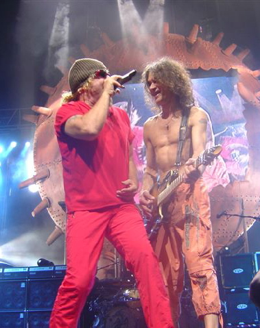 Sammy Hagar the red rocker and Eddie Van Halen in concert